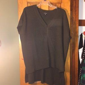 Express green short sleeve sweater